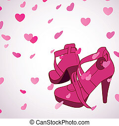 Female shoes background