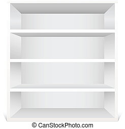 White shelf - Shelf isolated on white background