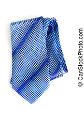 Blue Necktie - elegant blue tie isolated on white background