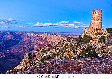 Desert View Watchtower - The famous watchtower sits on the...