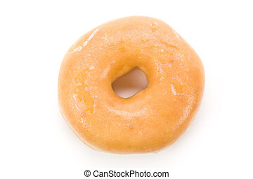 Donut - a sweet donut with white background