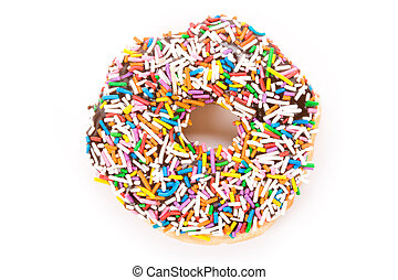 Donut with white background close up shot
