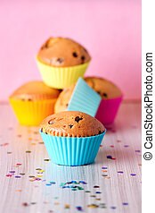 Homemade cupcakes with silicone molds - Homemade cupcakes...