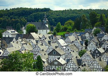 Freudenberg in Germany - traditional German city of...