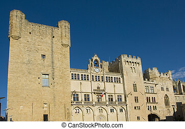 Castle of Narbonne - town hall in Narbonne, in the castle...