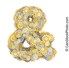 Ampersand sign from camomile flowers - Ampersand sign from...