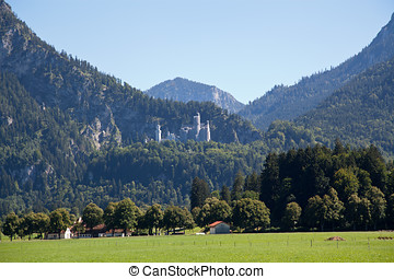 Neuschwanstein castle - The Neuschwanstein Castle in...