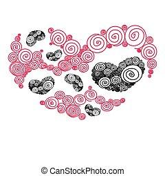 heart spiral pattern