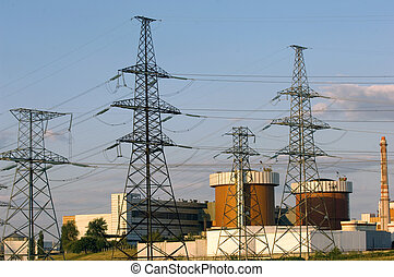Nuclear energy - South Ukrainian nuclear power plant with...