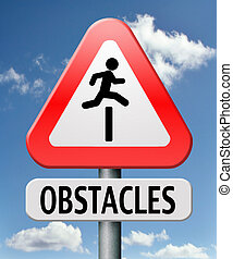 obstacles - obstacle ahead caution for danger take the...