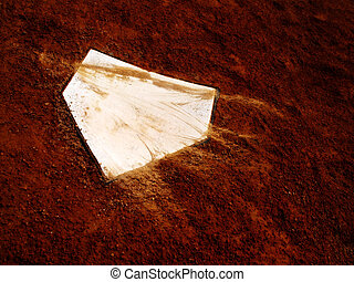Home Plate - Home plate on baseball field