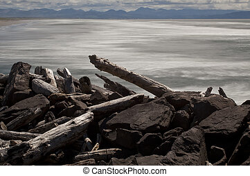 South Jetty, Columbia River - The South Jetty at the mouth...