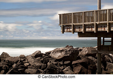 Viewing Platform at the South Jetty - Viewing platform at...