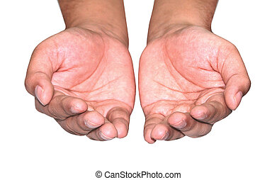 male woman hand holding isolated