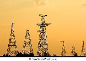 Nuclear energy - Power lines by South Ukrainian nuclear...