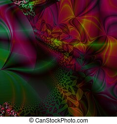 abstract background - fractal, shape, shade, light, color,...
