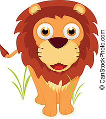 Cute Lion Standing