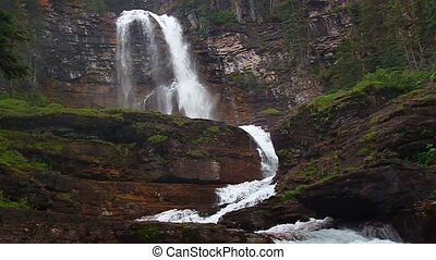 Virginia Falls Montana - Beautiful Virginia Falls in the...