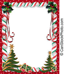 Christmas Candy and tree border - Image and Illustration...