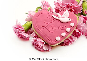 Valentine cookie heart shaped