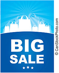 BIg sale - Big sale annoucement ove blue background