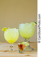 Margarita Drinks - Margaritas at a Mexican restaurant with a...