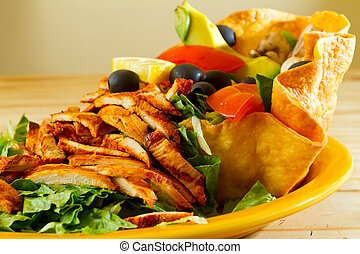 Mexican Restaurant Food - A salad at a Mexican restaurant...