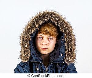 Menino, Inverno, roupas