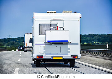 Camper on road