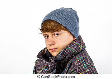 boy in winter clothes