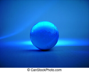 glass ball - Blue glass ball