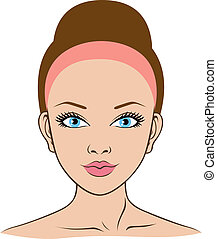 woman face for spa, health, beauty - face of young woman for...