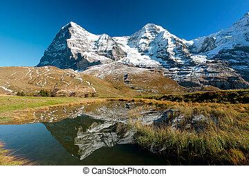 Eiger,  panorama,  monch, montagna