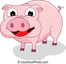 Happy Pig  - Vector Illustration Of Happy Pig