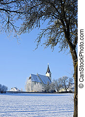 Church in Winter Landscape