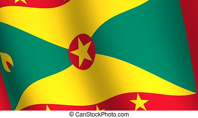 Waving flag of Grenada