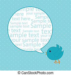 blue bird over blue background. vector illustration