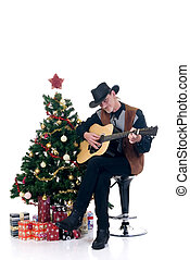 Christmas cowboy - Christmastree with presents and cowboy...