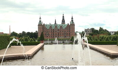 Fountains at Frederiksborg Castle, - Fountains in the...
