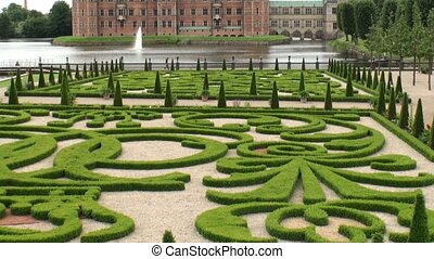 Gardens of Frederiksborg Castle, De - View on the gardens of...