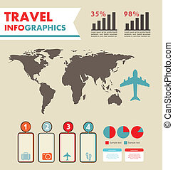 infographics set with different elements . vector...