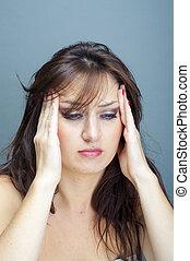 girl with headache