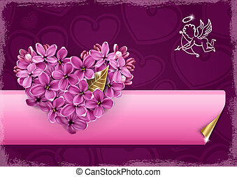 Heart of lilac
