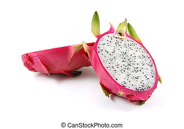 Dragon fruit - Exotic Dragon fruit isolated on a white...