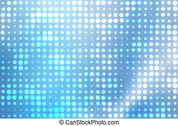 Blue Glowing Orbs Abstract Background - Blue and White...