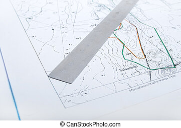 Map with ruler