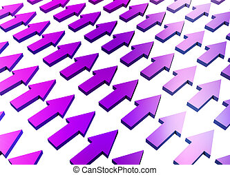Purple Abstract Growth and Progress Background Concept...