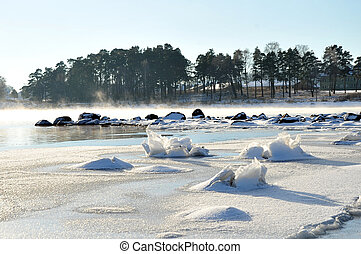 A Frosty Day - A frosty day on the beach of Horten, Norway