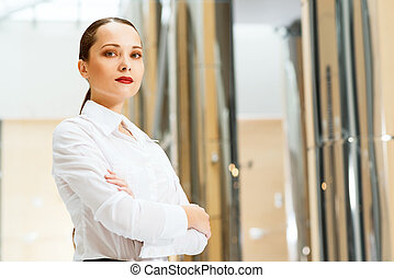 portrait of a beautiful business woman