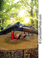 escopeta, su, cartuchos